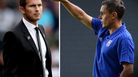 Frank Lampard and Paul Hurst will go head-to-head this evening. Picture: PA/PAGEPIX