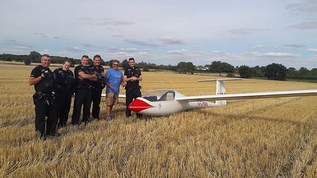 A glider pilot had to make an emergency landing in a field in Cockfield on Monday Picture: SUFFOLK P