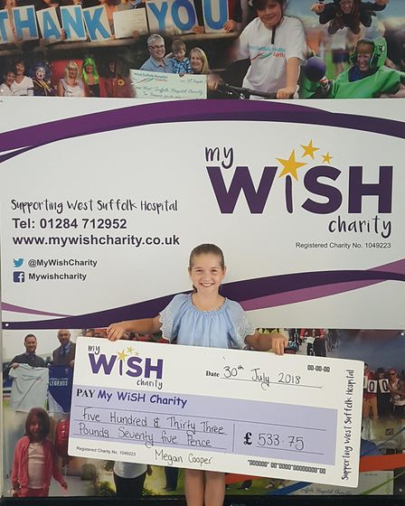 Megan Cooper. Picture: MY WISH CHARITY
