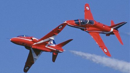 The Red Arrows in flight. The team is appearing at Clacton Airshow 2018 Picture: TDC