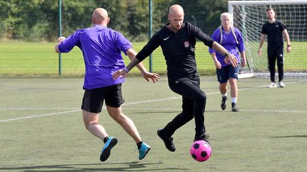 Footballing fun at Whitton Sports Centre in memory of Sian-Grace Ryan Picture: NICK BUTCHER