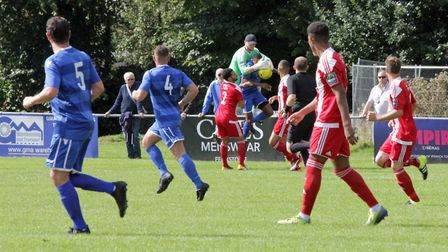 Jack Spurling collects the ball under pressure. Picture: PHIL GRIFFITHS