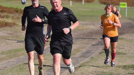 Runners tackling the 5K course at the Sizewell parkrun, the 10th parkrun to be established in Suffol