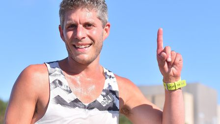 Ipswich JAFFA's Matt Spencer, from Saxmundham, who was first home at the Sizewell parkrun. Picture: