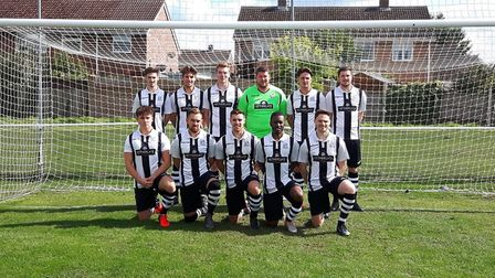 The Long Melford team which made progress in the FA Cup. Picture: KEVIN COOK