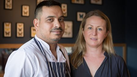 Jemima Withey with head chef Chandramauli Dwivedi (Mauli) who has been in the final five for best U