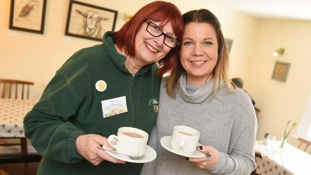 Ann Osborn (left) and Sally Connick from the Meet up Mondays initiative Picture: GREGG BROWN