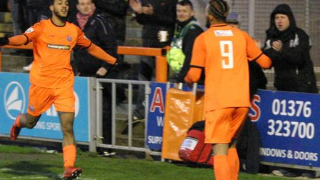 Reece Grant, left, who had a goal ruled out for offside during the 1-0 defeat at Barrow on Saturday.