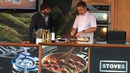 James Tanner giving a demonstration at the Food and Drink Festival in Bury St Edmunds. Picture: RUSS
