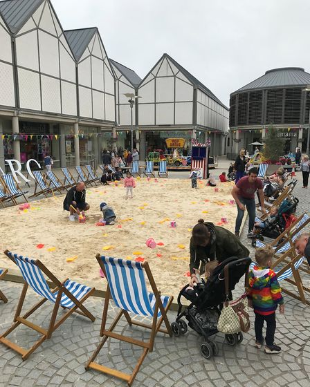 The beach at the Food and Drink Festival in Bury St Edmunds. Picture: RUSSELL COOK