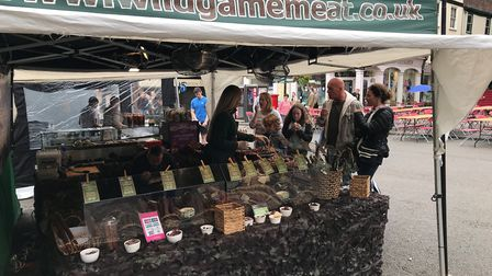 The Wild Game Meat stall at the Food and Drink Festival in Bury St Edmunds. Picture: RUSSELL COOK