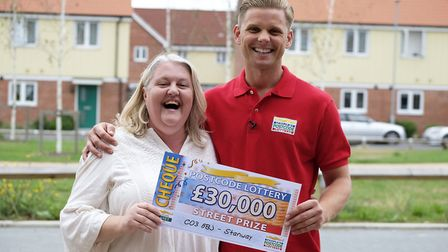 Catherine Brunner with People's Postcode Lottery ambassador Jeff Brazier Picture: PHILIP REESON