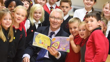 Former headteacher Kevin Bullock has written a children's book and is delivering a talk to his old s
