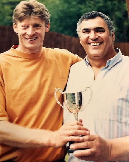 Bob with Sergei Baltacha Picture: SHELLEY FAMILY