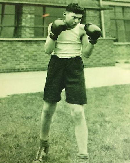 Bob school boxing aged 15 at Westbourne School Picture: SHELLEY FAMILY