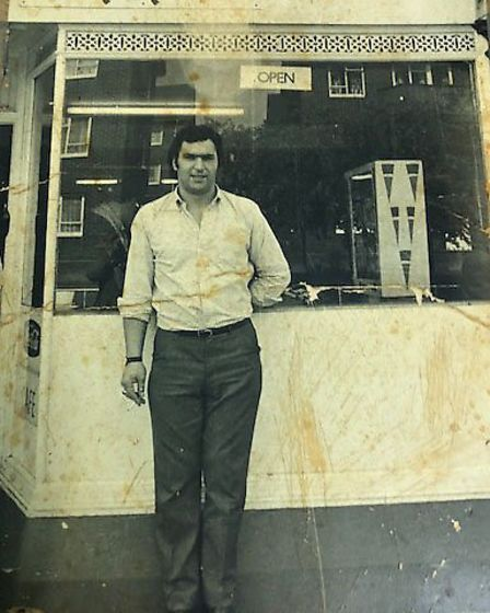 Bob at Nippin cafe Picture: SHELLEY FAMILY
