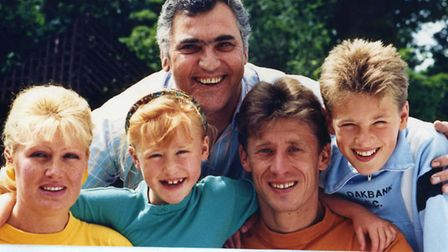 THE Baltacha family at their Ipswich home. From left to right). Mum Olga, Elena, Dad Sergei and son