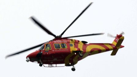 The Essex and Herts air ambulance Picture: NIGEL BROWN