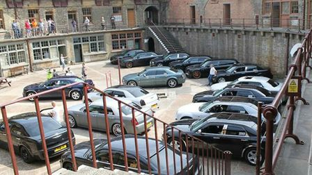 The volunteers at the fort made special arrangement for the event, which featured 17 cars Picture: S