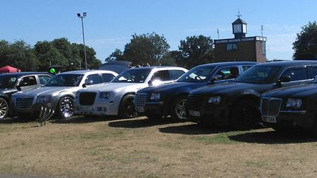 The Chrysler 300C cars won a trophy at the Festival of Wheels Picture: SHARON BRADLEY