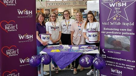 Pictured at the Matalan store is Debbie Collins, fundraisng assistant for My WiSH Charity left, and