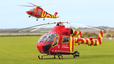 The Essex and Herts Air Ambulance was called to the scene (stock image) Picture: ESSEX AND HERTS AIR