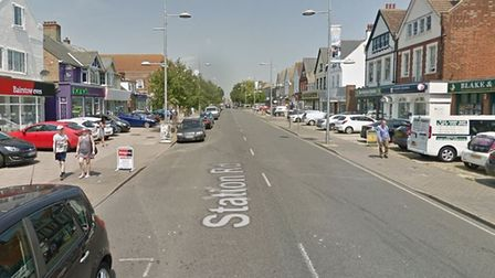 The incident happened on Station Road in Clacton Picture: GOOGLE MAPS