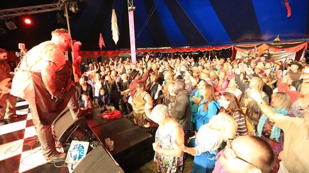 Bloodshake Chorus performed at Maui Waui's Main Stage on Friday night Picture: JERRY TYE