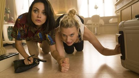 Mila Kunis as Audrey and Kate McKinnon as Morgan in The Spy Who Dumped Me. Picture: Hopper Stone/SMP