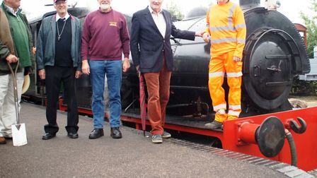 Middy directors and Rob Patten back at Wetheringsett and Brockford station. Picture: LAWRIE ROSE MSL