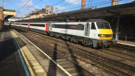 An Intercity train at Ipswich Station heading for London Picture: PAUL GEATER