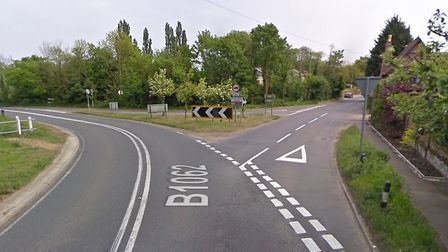 The incident happened on the B1062 near the junction with Church Road in Flixton Picture: GOOGLE MAP