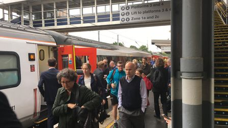 Several services have been cancelled or delayed on the line between Ipswich and London Picture: TERR