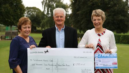 Marion Farrant, Peter Bowers and Helen Scott who helped to organise the Jan Bowers and Past Member M