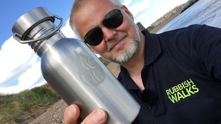 Jason Alexander who has launched Refill Suffolk Picture: RUBBISHWALKS