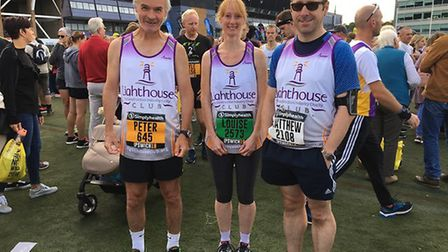 (L-R) Peter Blake, Louise Plant and Matthew Cole from Prettys raised almost £400 for the Lighthouse