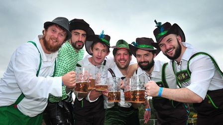 The crowds enjoyed the beer at Oktoberfest in Ipswich last year Picture: SARAH LUCY BROWN