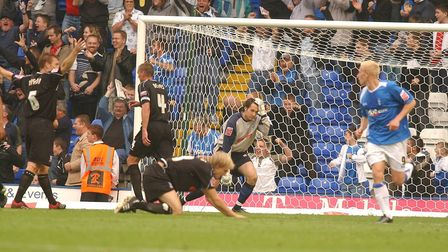 Lewis price is left stunned after spilling the ball allowing DJ campbell to equalise for Birmingham