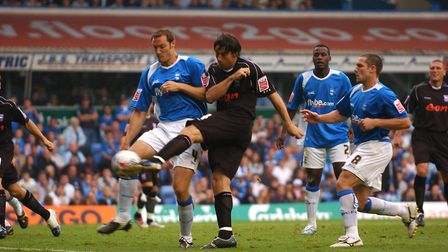Alan Lee putting Ipswich infront as they take the lead at St Andrews in September 2006