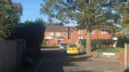 An officer attended the scene Picture: ARCHANT