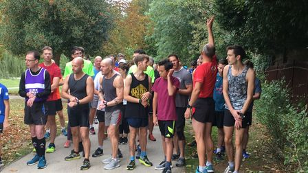 Runners, joggers and walkers congregate for the 174th staging of the Raphael parkrun last Saturday.P