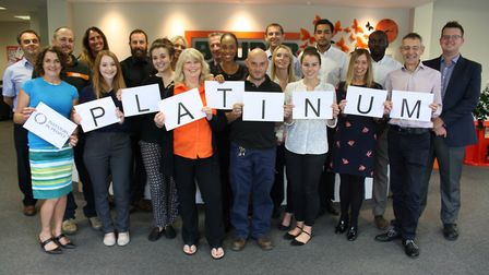 Bauder Ltd, in the UK, has been awarded the Platinum Investors in People award. Some of the team in