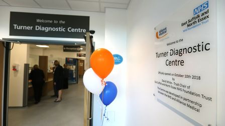 The new centre at the Colchester Hospital opens Picture: STEVE BRADING