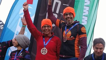 The winning Mixed Pair at Thetford – Jodie Cole and Mike Auger of Epic Orange. Picture: EPIC ORANGE