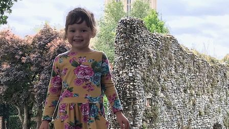 Four-year-old Penny Waters, who has won an award for her bravery after losing an eye to cancer Pictu