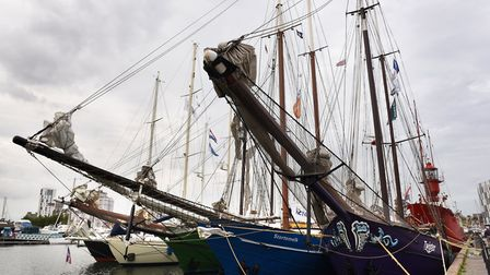 The Tall Ships have arrived in Ipswich Picture: SARAH LUCY BROWN