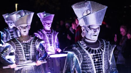 The LED Drummers perform at last year's event Picture: ALEXANDER PARNELL