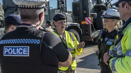The operation has been helped by Essex Police Picture: COLCHESTER GARRISON