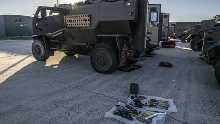 The vehicles are taking part in Exercise Trident in Norway Picture: COLCHESTER GARRISON