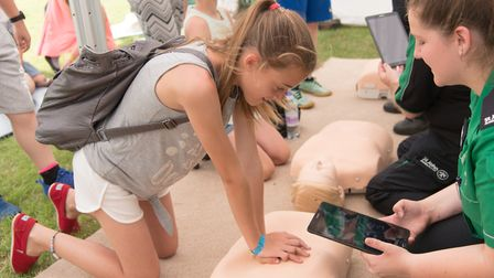 The lessons will include practising CPR on a dummy as well as using newly designed defibrilator mach